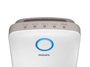 Vorderseite des Philips Luftbefeuchters mit Reinigungsfunktion