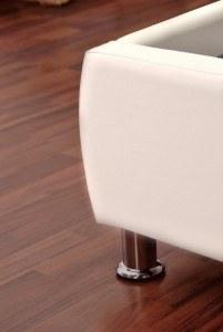 Designerstandfuß SAM® Polsterbett Zarah in weiß 180 x 200 cm