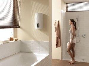 Durchlauferhitzer im Bad montiert