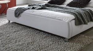 Fußende SAM® Polsterbett Zarah in weiß 180 x 200 cm