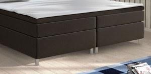 Fußteil Boxspringbett King Size Columbia schwarz 180 x 200 cm