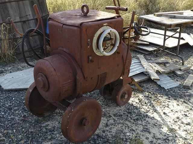 Alter Schraubenkompressor