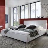 SAM® Polsterbett Zarah in weiß 180 x 200 cm