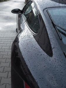 Schwarzer Lack von Porsche
