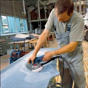 Arbeiten mit dem Bosch Exzenterschleifer