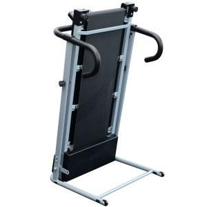 Das Elektrisches Laufband Fitnessgerät ist platzsparend zusammen klappbar.