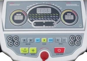Das Heimtrainer Profi Fitness Laufband hat drei LCD Displays.