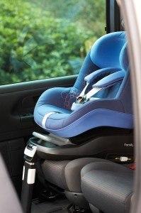 Isofix-Befestigung Maxi Cosi 63405941 Pearl Kinderautositz Family Fix Konzept Total Black