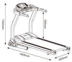 Das Laufband Speedrunner 5000 ist einfach in der Handhabung.