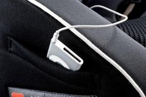 MP3 Tasche Kiwy Kinderautositz Gruppe 1 bis 3 Carbon mit Isofix