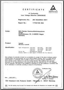 Das SixBros. Laufband mit Computer ist TÜV zertifiziert.