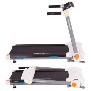 Das Ultrasport motorisiertes Laufband mit Computer lässt sich sehr einfach zusammen klappen.