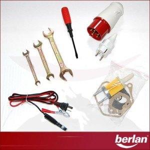 Werkzeug und Anschlüsse des Stromerzeugers