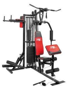 Christopeit Fitness-Station Profi Center de Luxe hat einen integrierten Stepper
