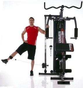 Die Hammer Kraftstation Ferrum TX2, anthrazit/schwarz ist auch für fortgeschrittene Sportler geeignet.