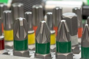 Akkuschrauber Bits für unterschiedliche Schraubenköpfe