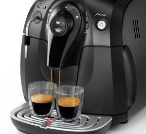 Espressomaschine Saeco hd8743 im Betrieb