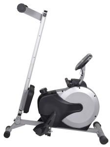 Das AsVIVA Rudergerät Ergometer Rower Cardio XI Fitness läßt sich platzsparend zusammen klappen.