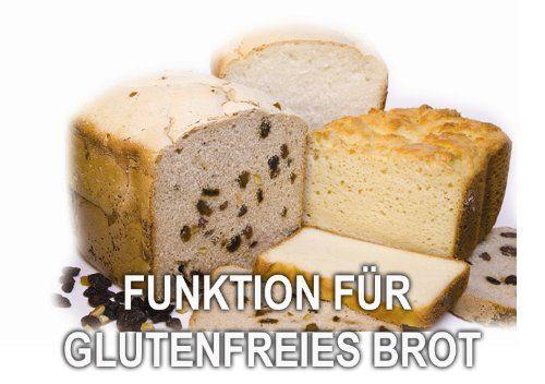 Glutenfreies Brot Panasonic SD ZB2502BXE Brotbackautomat