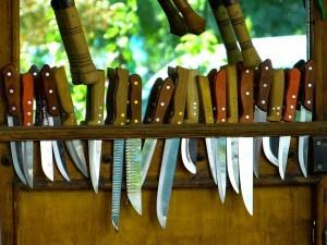 Messer sollten immer sorgfältig aufgeräumt sein.