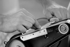 Für die Messerherstellung wurden verschiedene Materialen genutzt.