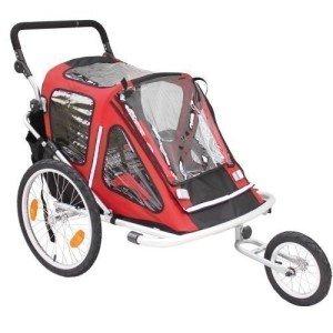 Der Kinderanhänger Red Loon RB10001 ALU-Light + Jogger für 2 Kinder TÜV/GS von unseren Experten getestet.