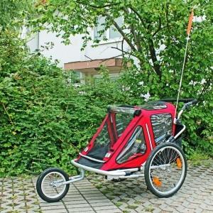 Der Kinderanhänger Red Loon RB10001 ALU-Light + Jogger ist für 2 Kinder geeignet.