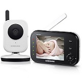 Das Samsung SEW-3036 Baby Monitoring System in weiß ist auf dem 4. Platz im großen Babyphone Test.
