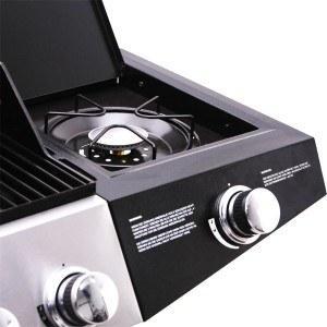Der BBQ Barbecue Gasgrill 6+1 (6 Hauptbrenner) hat einen Seitenbrenner.