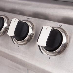 Der Warmhalterost und Grillrost sind abnehmbar beim Rustler LP-0203A Gasgrill.