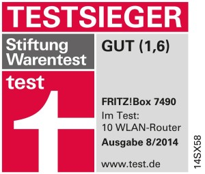 Router AVM Fritz!Box 7490 Vergleichs-Testsieger2014