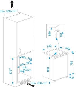Der Beko B 1802 F Einbaukühlschrank hat die Energieeffizients von A++.