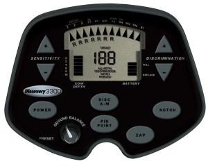 Bounty Hunter Metalldetektor 3300 LCD-Anzeige des Detektors