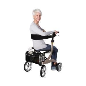 Drive Medical champagner Rollator Nitro, größe M - gut gepolsterte Sitzfläche