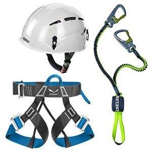 Das Edelrid Klettersteigset Cable Lite 2.3 inklusive Gurt und Helm.
