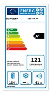 Der Einbaukühlschrank SCHOEPF KSE 5100 hat die Energieklasse A+.