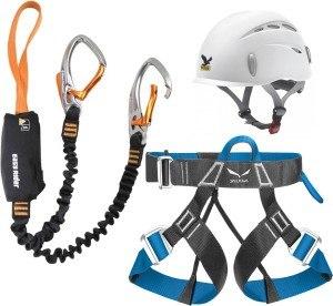 Das Klettersteigset Black Diamond Easy Rider inklusive Salewa Helm Toxo und Gurt Ferrata Lite.