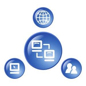 Netzwerk Bild Blau