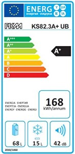 Der PKM KS82.3 Einbau-Kühl-Gefrier-Kombination hat die Energieklasse A+.
