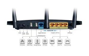 TP-Link TL-WDR4300 Router im Test Rückseite