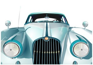 Altes auto Front