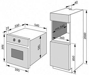 amica eb 13523 e backofen expertentesten. Black Bedroom Furniture Sets. Home Design Ideas