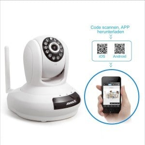 Annke SP1 Wireless-720P HD WLAN-IP-Kamera Handy