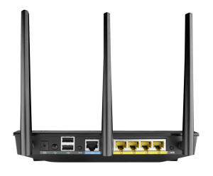 Asus RT-N66U N900 Black Diamond Router im Test Rückseite
