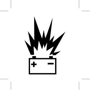 Autobatterie warnung
