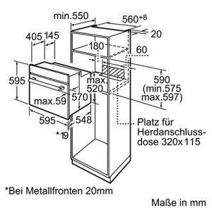 Bosch HBG73U150 Backofen Masse
