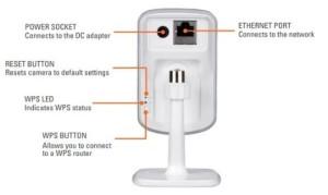 D-Link DCS-932L Wireless N Tag/Nacht Home IP-Kamera Rueckseite Beschreibt