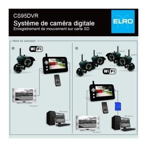 Elro digitale Funk-Überwachungskamera CS95DVR WiFi