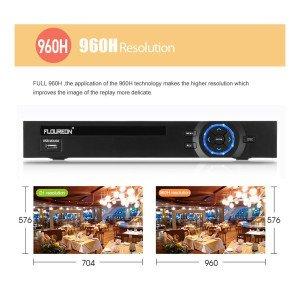 FLOUREON CCTV Videoüberwachungsset Bild Res