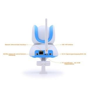 HiKam Q7 Wireless IP-Kamera Hauptbild Verpackung Front PIR Rueckseite